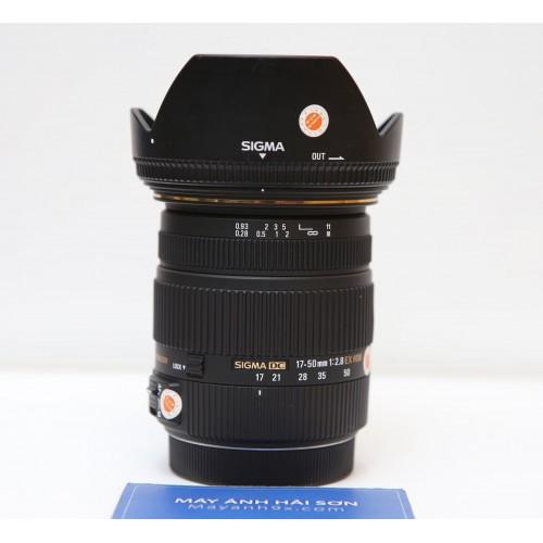 Ống Kính Sigma 17-50mm f/2.8 EX DC OS HSM - Sử dụng cho Canon ( Hàng Đã Qua Sử Dụng Mới 98% )