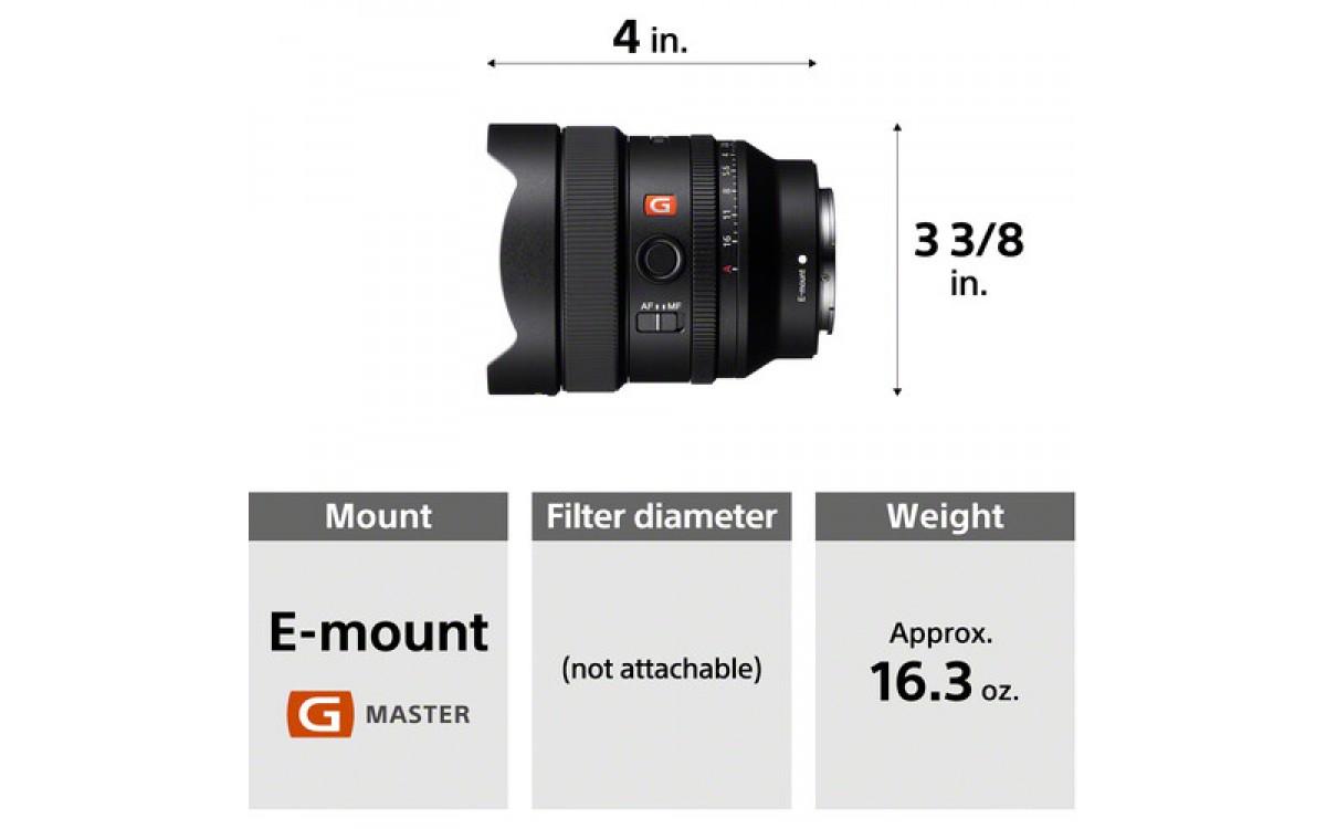 Sony giới thiệu ống kính siêu rộng FE 14mm F1.8 GM nhỏ gọn