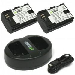 Bộ 2 pin sạc Wasabi LP-E6 dùng..