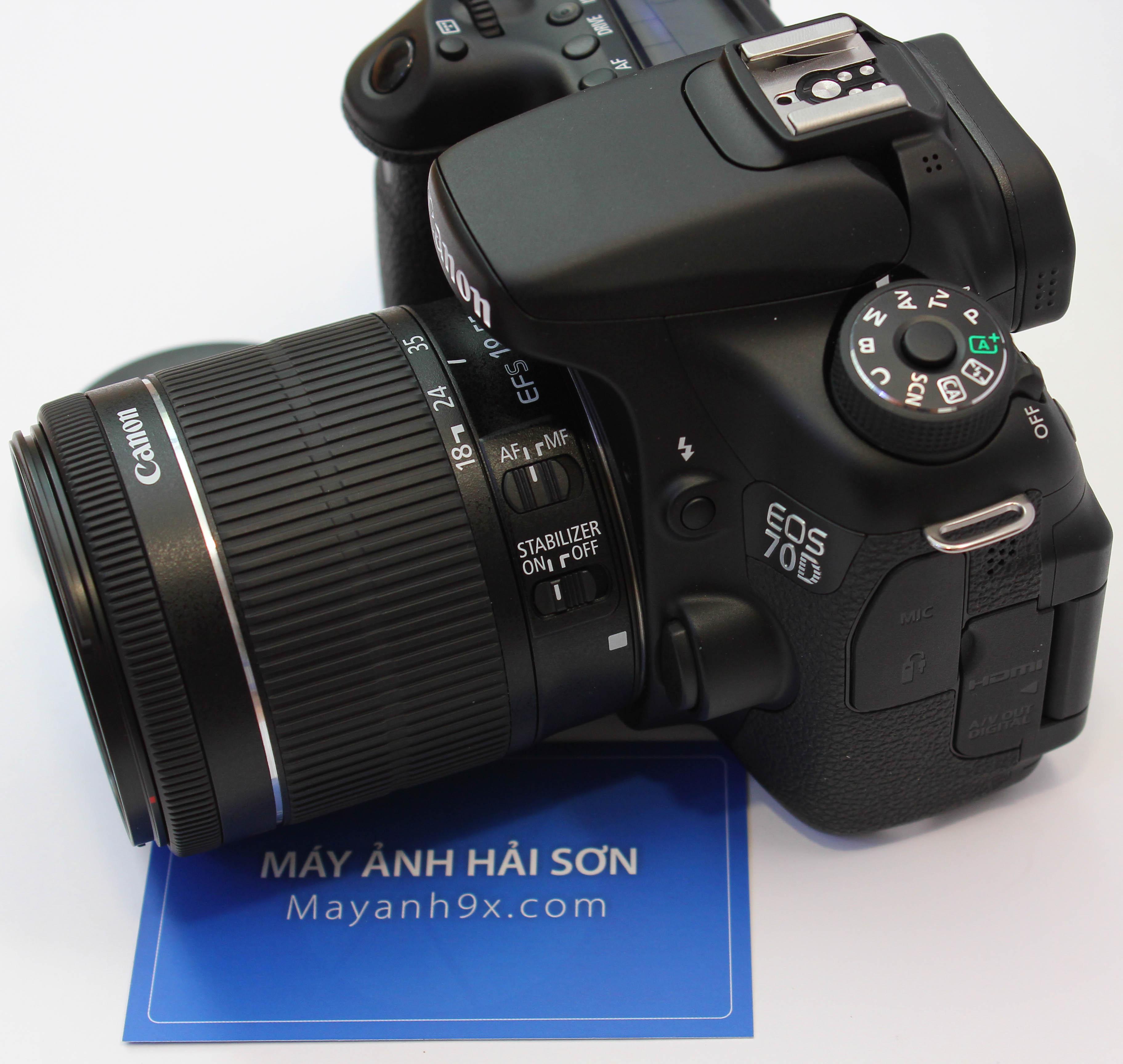 Mẫu máy ảnh DSLR bán chuyên mới nhất của Canon mang tên gọi Canon 70Dvừa được giới thiệu sau gần 3 năm Canon đưa ra phiên bản EOS 60D.